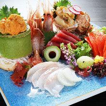 6種生魚片拼盤