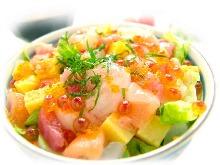 什錦海鮮壽司蓋飯