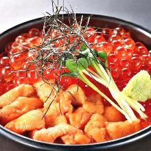 海膽鮭魚子蓋飯