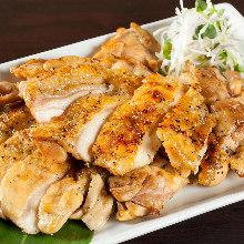 炭火烤土雞