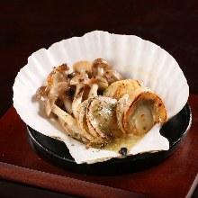奶油烤扇貝