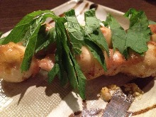 梅肉鵪鶉蛋串燒