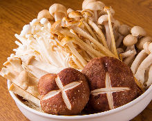 烤蘑菇拼盤