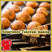 Wear a Takonotetsu uniform and experience Takoyaki making - 1 drink included!