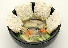 蔬菜澆汁鍋巴