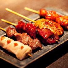 5種烤雞串拼盤
