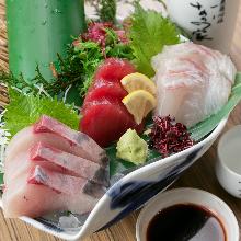 每日更換生魚片拼盤