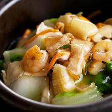 海鮮澆汁炒麵