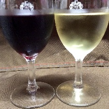 glass of wine  (red / white)
