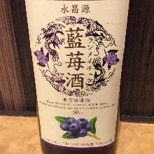 Indigo plant strawberry liquor (lock / so da)