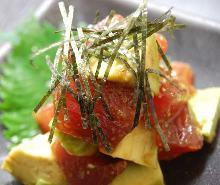 鮪魚酪梨拌芥末醬油