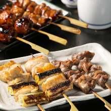 6種串燒拼盤