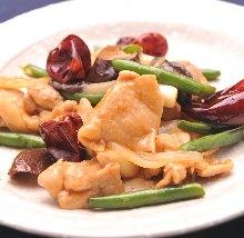 辣椒炒雞肉