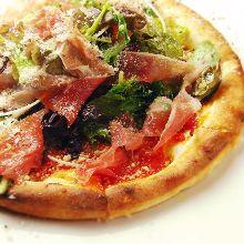生火腿披薩