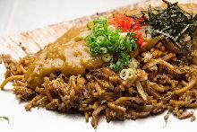 咖哩味炒碎麵炒飯