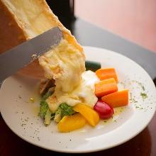 拉可雷特起司蔬菜