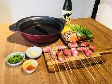 豬肉串捲和培根串捲涮涮鍋