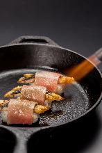 鰻魚與牛肉握壽司