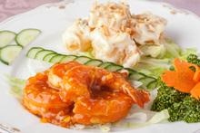 雙色調味醬炒大蝦
