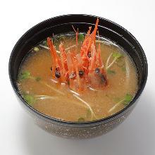 鮮蝦味噌湯