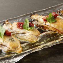 橄欖油醃漬熏制牡蠣