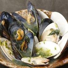酒蒸蛤蜊貽貝
