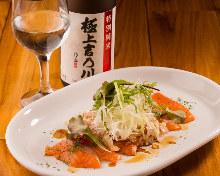 大蔥鮭魚刺身