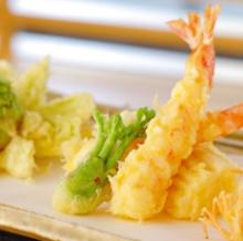 鮮蝦與當季蔬菜天婦羅拼盤