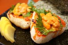 烤飯糰 佐海膽