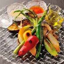 烤、嫩煎蔬菜