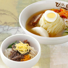 盛岡冷麵與迷你韓式拌飯套餐