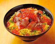 醃漬海鮮蓋飯
