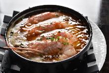 西班牙蒜香蝦 配法式長棍麵包