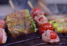 番茄豬肉捲烤串